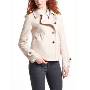 Leifnotes assymetrical cropped pea coat 6